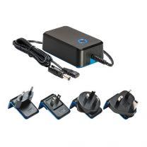 3825/12VDC 7,2 W Medical hyväksytty Plug-in ja Desktop mallinen AC/DC-teholähde; 12 VDC 600 mA