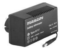 10 W Plug-in mallinen säädettävä AC/DC-teholähde; 5-24 VDC 1,5-0,4 A 8717/5-24VDC