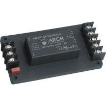 AHC-12S-A5 5 W AC/DC teholähdemoduuli asennuspohjassa; 12 VDC 420 mA