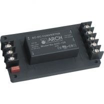AHC-3.3S-A5 5 W AC/DC teholähdemoduuli asennuspohjassa; 3,3 VDC 1250 mA