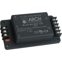 AKC-12D-A5 20 W AC/DC teholähdemoduuli asennuspohjassa; ±12 VDC ±833 mA