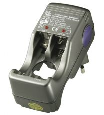 MW 1281LC Plug-in mallinen NiMH/NiCd sormiakkulaturi; 4x250 mA 2-4 kennolle