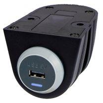 PV65R-S-ASSY 10 W tasoon kiinnitettävä USB-laturi asennuskotelossa, 9-32/5 VDC 2,1 A