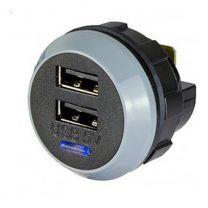 PVPRO-D 15 W tasoon kiinnitettävä USB-laturi, 9-32/2x5 VDC 2x1,5 A