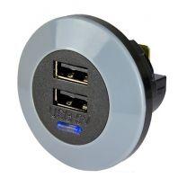 PVPRO-DFF 15 W tasoon kiinnitettävä USB-laturi, 9-32/2x5 VDC 2x1,5 A
